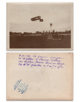 Gobron flying a Voisin (1909)